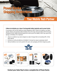 Power Bank Shipping Restrictions - Download Marketing Flyer