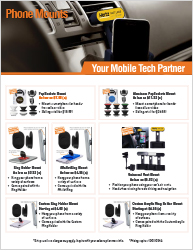 Phone Mount Products - Download Marketing Flyer