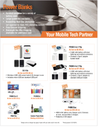 Power Bank Products - Download Marketing Flyer