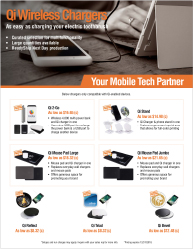 Qi Wireless Charger Products - Download Marketing Flyer