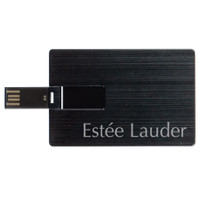 Aluminum Laguna credit card shaped USB drive, ReadyShip Next Day