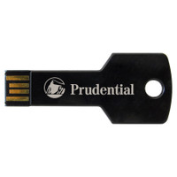 Columbus, key-shaped USB drive, metal
