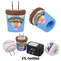 Custom shaped Wall Charger, examples, ETL Certified