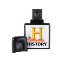 Dover square USB drive, with epoxy dome on front and back