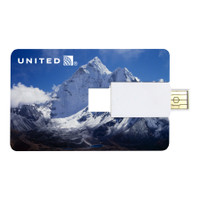 Jackson credit card shaped USB drive