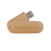 Kona bamboo swivel USB drive, ReadyShip Next Day
